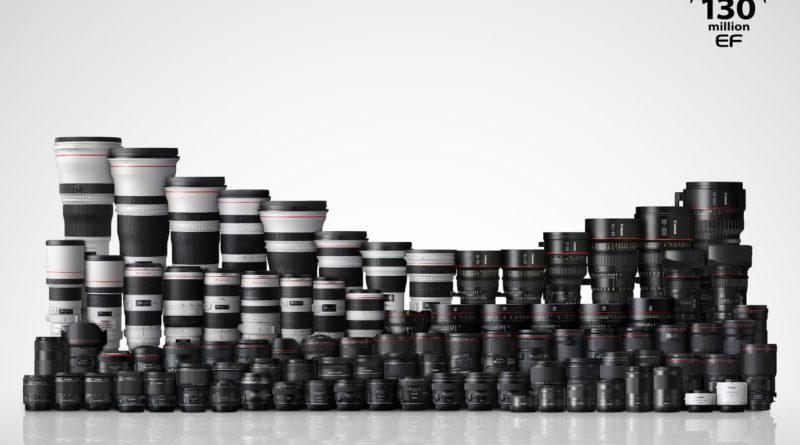 Canon firar en viktig milstolpe – 90 miljoner kameror i EOS-serien och 130 miljoner utbytbara EF-objektiv har nu producerats